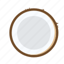 coconut, drink, food, fruit, healthy, tropical icon