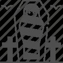mummy, scary, dead body, halloween icon