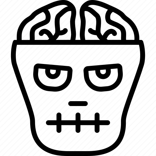 brain, dead, frankenstein, halloween, lobotomy, zombie icon