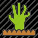 halloween, hand, horror, scary, spooky, zombie, zombie hand icon