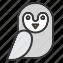 animal, bird, halloween, horror, owl, pet, scary icon