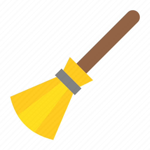 broom, clean, halloween, sweep, sweeping, witch broom icon