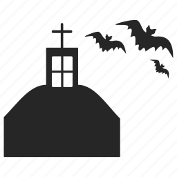 bat, building, haunted, home, house, mansion icon