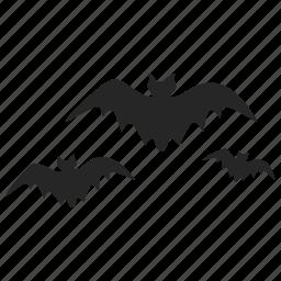 bats, dreadful, evil, fearful, halloween, horrible, scary icon