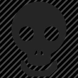 dead, face, halloween, horror, skull, tattoo, zombie icon