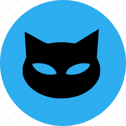 black cat, cat, halloween, scary icon