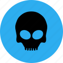 bone, halloween, scary, skull icon