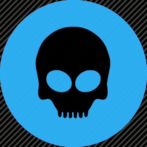bone, halloween, scary, skull icon