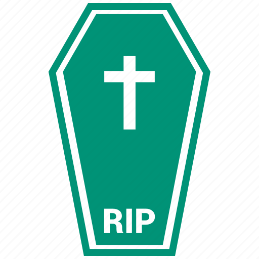 ceremony, coffin, dead, halloween icon
