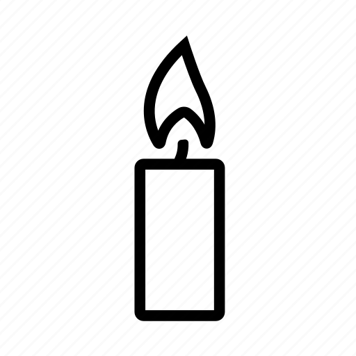 burning candle, candle, candlelight, halloween, light icon