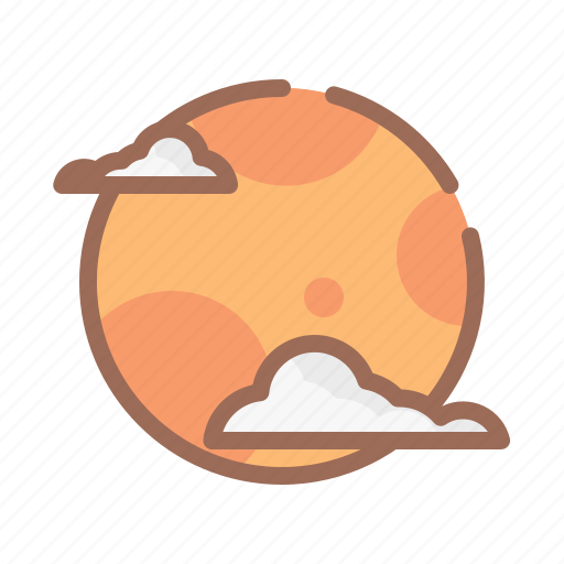 halloween, horror, moon icon