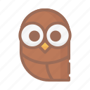 halloween, horror, owl icon
