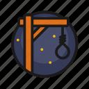 gallows, halloween, holiday, horror, loop icon