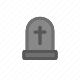 dead, halloween, rip, tomb, tombfill icon