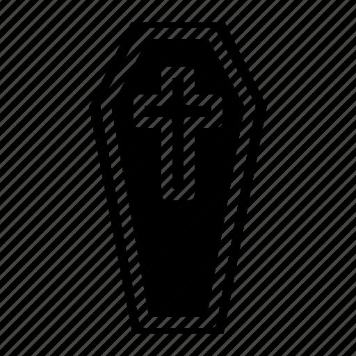 coffin, gead, ghost, grave, halloween icon