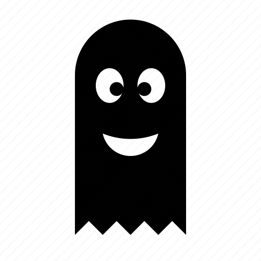 ghost, halloween, happy, horror, smile, spooky icon