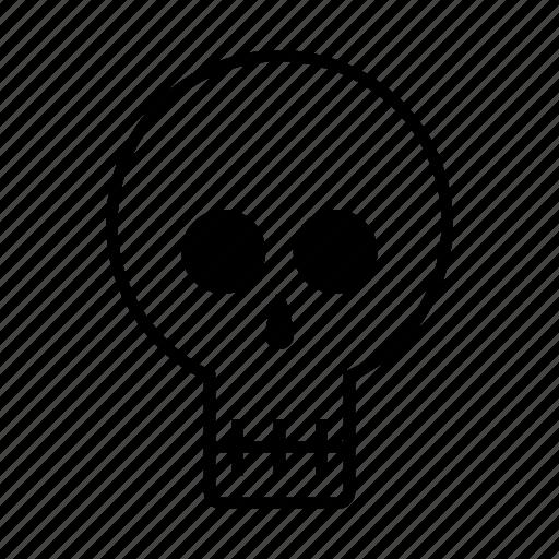 danger, error, evil, halloween, scary, skull icon
