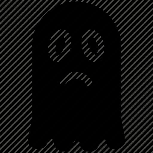 Evil, evil spirit, ghost, halloween black ghost, halloween ghost, scary evil ghost icon - Download on Iconfinder
