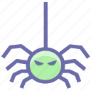 dreadful, fearful, halloween spider, horrible, scary icon