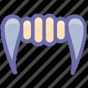 demon mouth, denture fangs, devil teeth, halloween demon mouth, halloween denture fangs icon