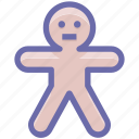 cookie, ginger, gingerbread man, halloween, man icon