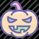 dreadful, fearful, halloween pumpkin, halloween pumpkit, horrible, pumpkin, scary icon