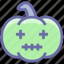 dearful, dreadful, dreadfull, halloween pumpkin, horrible, pumpkin, scary icon