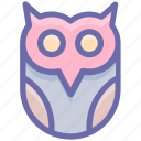 dreadful, fearful, fearfull, halloween owl, horrible, owl, scary icon