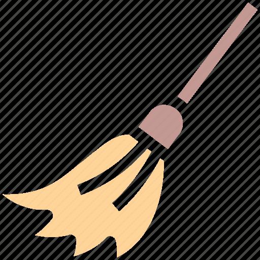 halloween besom, halloween brush, halloween mop, halloween witch broom, witch broom icon