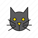 animal, cat, evil, face, feline, halloween icon