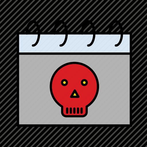 calendar, date, halloween, holiday, october, schedule icon