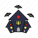 castle, dark, halloween, haunted, horror, house, scary icon