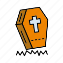 coffin, cross, death, halloween, mummy icon