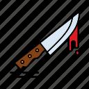 creepy, halloween, knife, scary, spooky icon