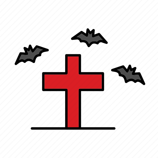 Bat, cross, death, funeral, grave, halloween, rip icon - Download on Iconfinder