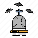 bat, death, funeral, grave, halloween, rip icon