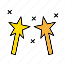 halloween, magic, magical, wand, wizard icon