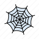 halloween, spider, trap, web icon
