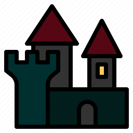 castle, halloween, haunted, horror, mansion, spooky, witch icon