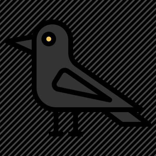 animal, bird, crow, halloween, horror, scary, spooky icon