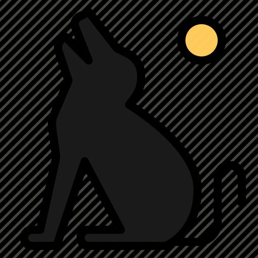 animal, animals, dog, halloween, howl, howling, pet icon