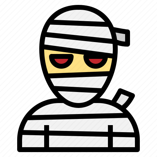 evil, ghost, halloween, haunted, horror, mummy, scary icon