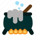 cauldron, halloween, horror, poison, pot, spooky, witch icon