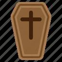 casket, cemetery, coffin, cross, delete, halloween, spooky icon