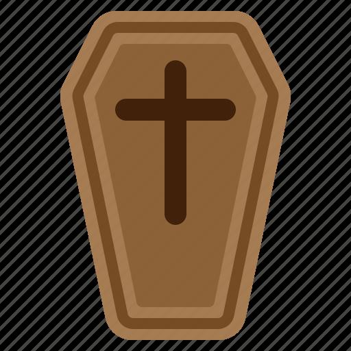 Casket, cemetery, coffin, cross, delete, halloween, spooky icon - Download on Iconfinder