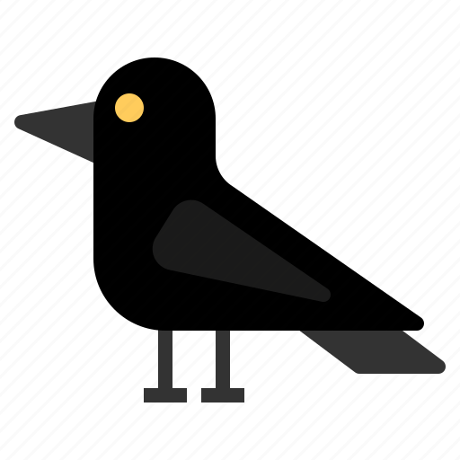 bird, crow, death, halloween, horror, scary, spooky icon