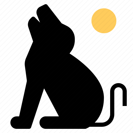 Animal, dog, halloween, howl, howling, pet, spooky icon - Download on Iconfinder