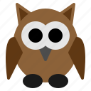 animal, bird, fearful, halloween, night, owl, scary icon