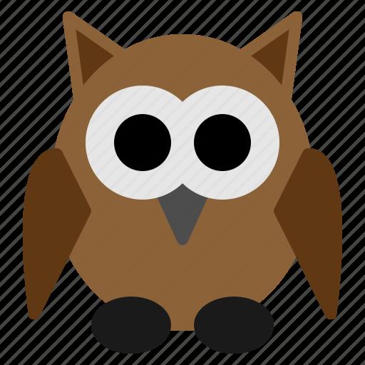 animal, bird, fearful, halloween, night, owl, scary icon
