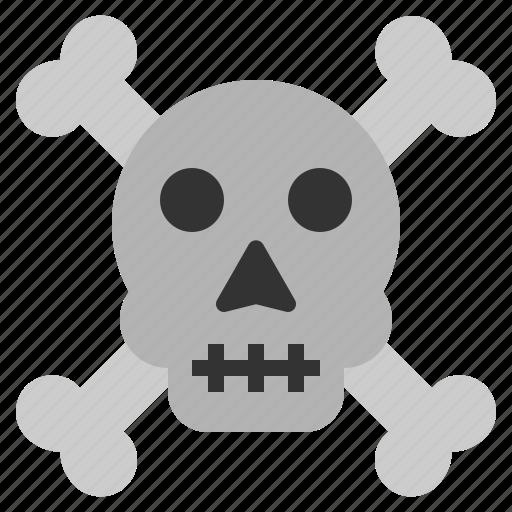 bones, cross, death, halloween, horror, scary, skull icon